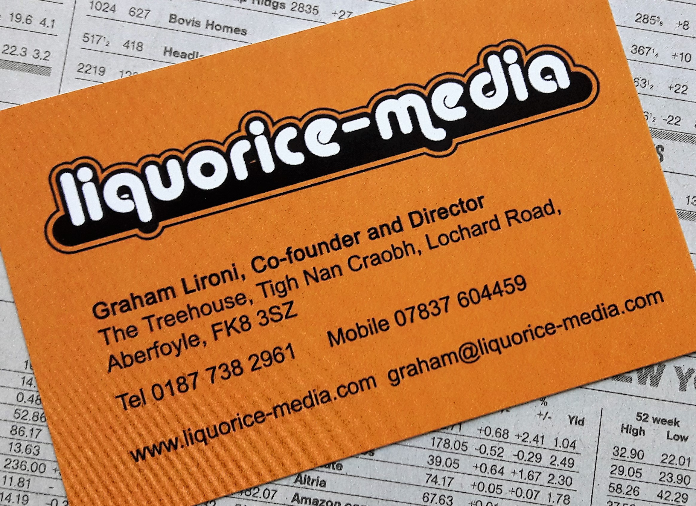 graham business card